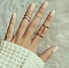 Set Punk Women Finger Ring Knuckle Open Adjustable Rings Boho Style Jewelry Gift