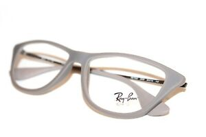 NEW RAY BAN RB 7042 5469 AUTHENTIC MATTE GRAY RUBBER EYEGLASSES RX 52-14-140 MM