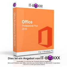Microsoft Office 2016 Professional Plus 32 & 64 Bit Sofort-Download ESD