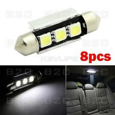 8pcs  39mm 5050-SMD LED Error Free Festoon Dome Map Car Interior Light 578