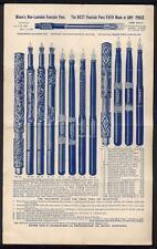 1896 American Fountain Pen Co MOORES NON LEAKABLE FOUNTAIN PEN Advertising Flyer