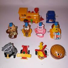 Set of 10 Old Vintage Wind Up & Pull Back Toys Mixed Hong Kong Tomy Kids