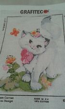 HELLO THERE  CROSS STITCH PATTERN ON CANVAS IS 11 ct for DMC THREADS