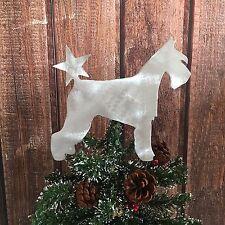 Schnauzer with Star, Dog Tree Topper, Wreath Decor, Holiday, Christmas Tree