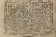 Carte de Bordeaux tirée de la Cosmographie de Münster, xylographie, fin XVIe