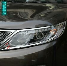Chromed ABS Plastic Head Light Lamp Cover For KIA Sorento 2010- 2014