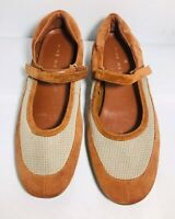 Nine West Mary Jane Flat Size 8.5 Women's Leather Slip On Shoes
