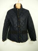 WOMENS JOULES MOREDALE UK 12 MARINE NAVY BLUE QUILTED CASUAL FITTED JACKET COAT