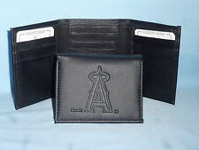 LOS ANGELES ANGELS of ANAHEIM   Leather TriFold Wallet    NEW    black 3  m3