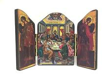 The Last Supper Jesus Christ Triptych Icon Style Religious Wall Plaque Decor