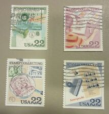 """US postage stamp lot scott no. 2198 - 2201 """"STAMP COLLECTING SET"""" free shipping"""