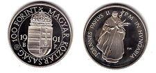 "HUNGRIA HUNGARY 1991  100 FORINT  NI  ""POPE JOHN PAUL II""  PROOF KM:682"