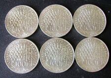 """Monnaie: lot de 6 pièces de 100 francs Argent Panthéon """"1982"""" TTB"""