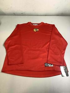 Men's NWT Majestic Chicago Blackhawks Long Sleeve Shirt Size L