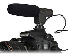 Micrófono estéreo micrófono para Canon DSLR EOS 5D Mark II Mar Nikon D7100, D7000, D5100