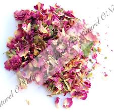 Rose Séchées Pétales Bourgeons  BIO 100% Naturelle 40g Tisane, Bain Rose Buds