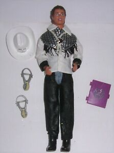 Barbie 1993 Western Stampin' KEN w/Chaps Shirt Cowboy Hat & Boots Complete