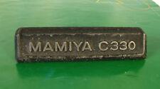 Mamiya C330 Professional F TLR Camera's Name Plate-Genuine Parts