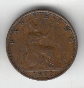 GB VICTORIA FARTHING 1872                55P         BY COINMOUNTAIN