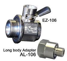 EZ Engine Oil Drain Valve EZ-106(14mm-1.5) & Long body adapter AL-106 COMBO PACK