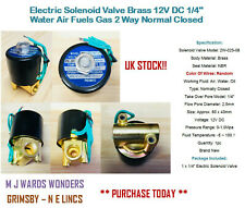"Electric Solenoid Valve Brass 12V DC 1/4"" Water Air Fuels Gas 2Way Normal Closed"