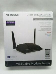 NETGEAR AC1200 WiFi Cable Modem Router, Model C6220, 802.11ac Dual Band Gigabit