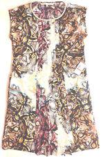 Rachel Roy XS Pleated Cap Sleeve w/ Pockets Missing Belt Shift Dress Black Multi