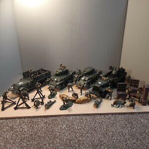 Forces of Valour 1/32 US M5A1 Stuart Tanks, M3A1 Half Track, GMC truck, soldiers