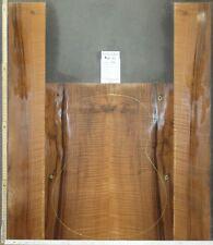 Tonewood Euro Nussbaum Figured Tonholz Guitar Builder Acoustic Backs & Sides QR4