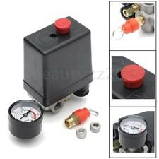 1/4'' BSP Air Compressor Pressure Switch 4 Port Single Phase Safety Valve Gauge