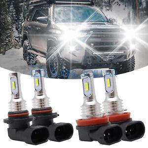 For Toyota Camry 2007-2013 4X 6000K Combo LED Headlight High Low Beam Bulbs Kit