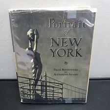 Portrait Of New York 1939 Felix Riesenberg HC DJ Mylar