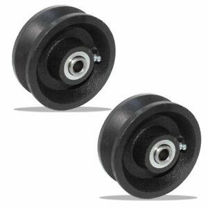 "2 Pcs of 4"" V-Groove Wheel - 400 lbs capacity"