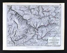 1850 Johnston Military Map - Napoleon Pyrenees Campaign 1813 Spain France
