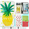 iPhone 8 7 Plus 6s 6 X Case Fruit Pineapple Print Wallet Leather Cover For Apple