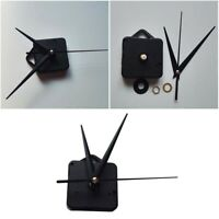 Wall Clock Movement Mechanism Long Spindle Black Hand for Home