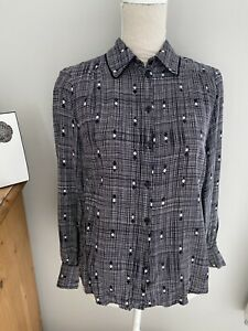 Ladies SILK 'Made In England' Shirt By M&S 10
