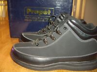 NIB Womens Size 11W Propet Soho Walker Boots Shoes Black Nubuck Leather