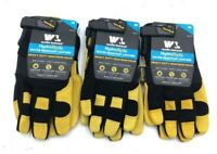 Wells Lamont HydraHyde Premium Leather Work Gloves Men's NEW