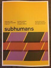 "Subhumans  & Pavement.2 Sided Rock Concert Mini Poster Op Art 14x10"", Ref:47"