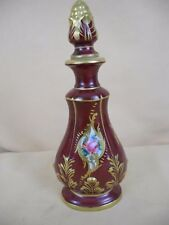 Sevres Style Hand Painted Porcelain Perfume Bottle or Small Decanter