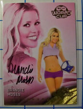 BRANDIE MOSES - 2014 BENCHWARMER WORLD CUP Signature Auto #36 soccer