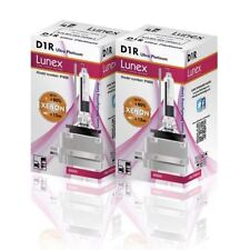 2 x D1R Genuine LUNEX XENON BULB REPLACEMENT FOR PHILIPS , OSRAM PK32d-3 - 8000K