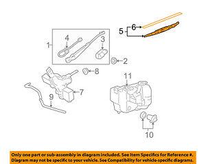 Hummer GM OEM 06-10 H3 Wiper-Rear Window Blade 10389570