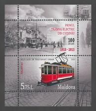 Moldova 2013 Transport Tram Railroad MNH Block