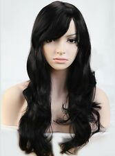 US Sale Wigs With Bangs Women Ladies Costume Full Head Wig Long Heat Resistant