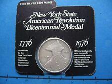 NEW YORK AMERICAN REVOLUTION BICENTENNIAL 999 SILVER COIN VERY RARE SEALED