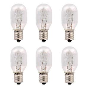 6 Pack Replacement 15 Watt Incandescent Bulb Himalayan Salt Lamp E12 Candelabra