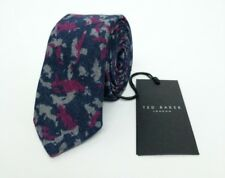 Ted Baker London Wool Tie Navy Camo Skinny Slim Brand New RRP£59 Made In Italy