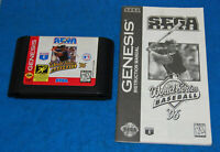 Sega Sports World Series Baseball '96 Genesis Game w/Manual, Cleaned & Tested